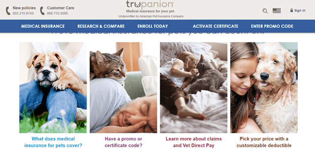 pet insurance providers - trupanion