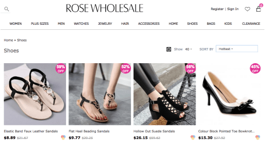 Rose Wholesale popular shoe stores