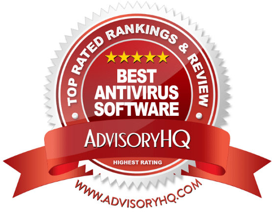 Red Award Emblem for Best Antivirus Software