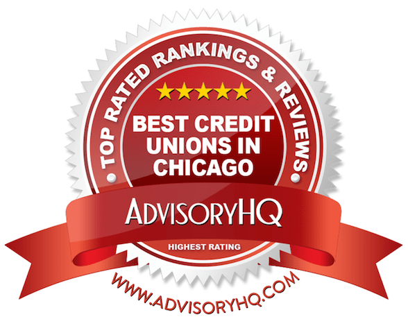 Best Credit Unions in Chicago Red Award Emblem