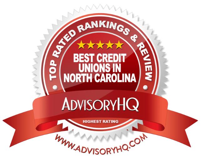 Best Credit Unions in North Carolina Red Award Emblem