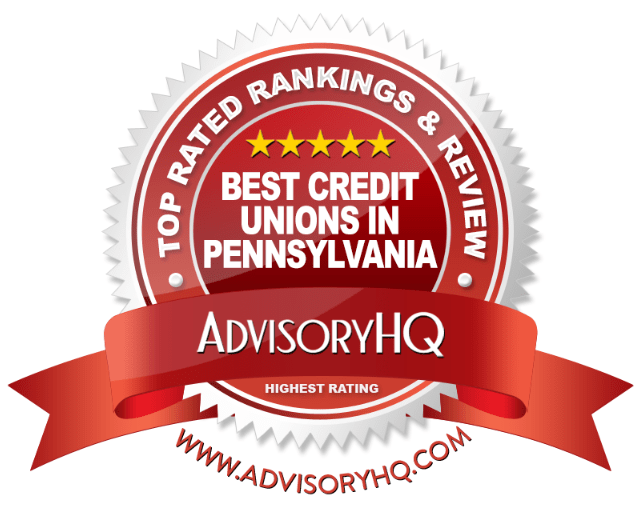 Best Credit Unions in Pennsylvania Red Award Emblem