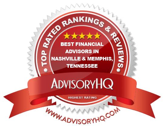 Best Financial Advisors in Nashville & Memphis, Tennessee Red Award Emblem