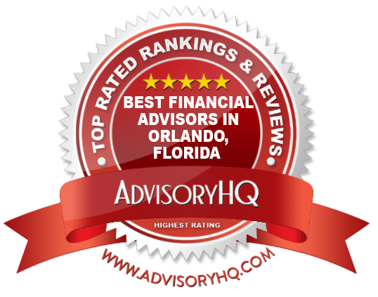 Best Financial Advisors in Orlando, FL Red Award Emblem