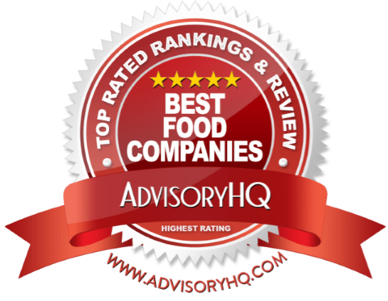 Best Food Companies Red Award Emblem