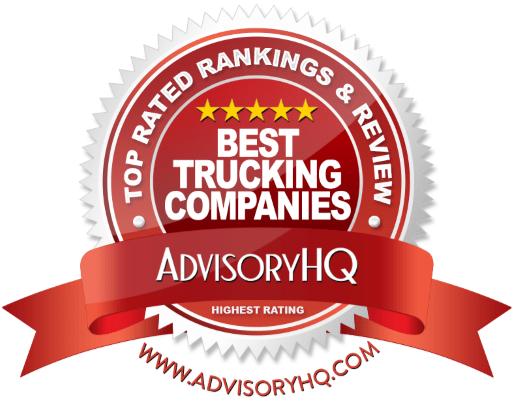 Best Trucking Companies Red Award Emblem