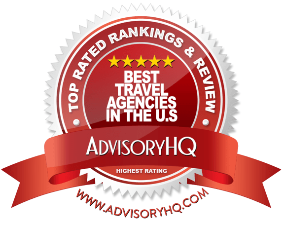 Best Travel Agencies in the U.S. Red Award Emblem