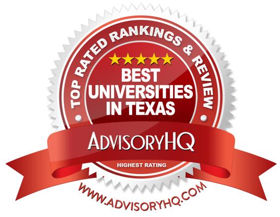 Best Universities in Texas Red Award Emblem
