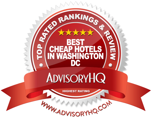 Best Cheap Hotels in Washington DC Red Award Emblem