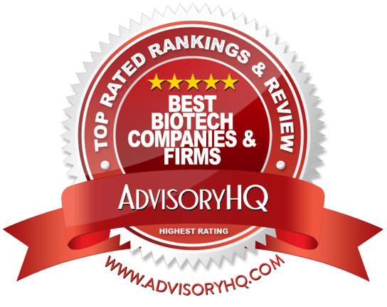 Best Biotech Companies & Firms Red Award Emblem