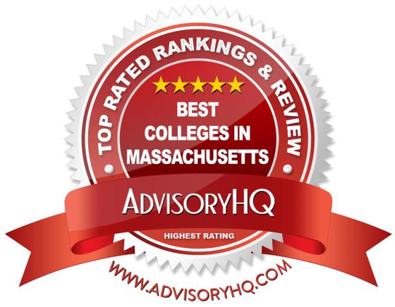 Best Colleges in Massachusetts Red Award Emblem