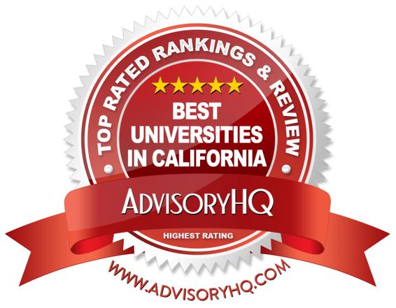 Best Universities in California Red Award Emblem