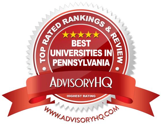 Best Universities in Pennsylvania Red Award Emblem