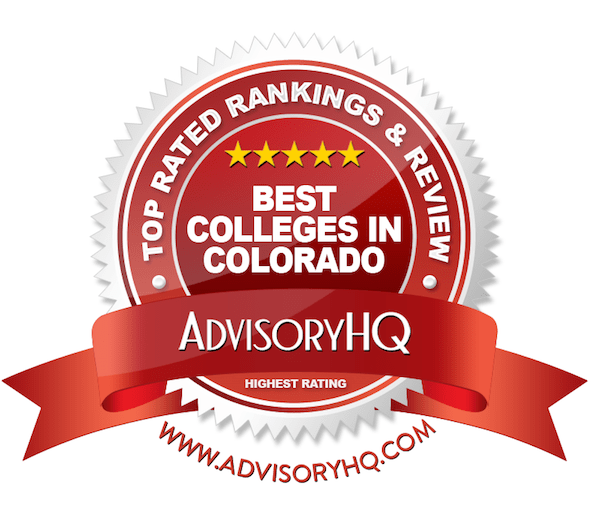 Best Colleges in Colorado Red Award Emblem