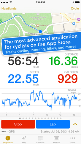 Cyclemeter - Key Features of This Selection for One of the Top Exercise Apps