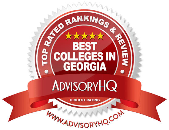 Best Colleges in Georgia Red Award Emblem