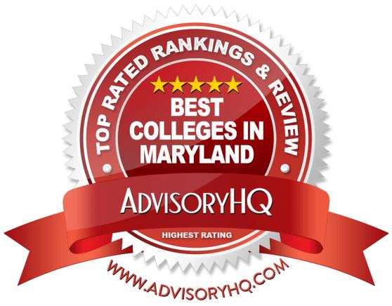 Best Colleges in Maryland Red Award Emblem