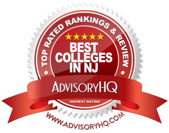 Best Colleges in NJ Red Award Emblem