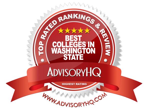 Best Colleges in Washington State Red Award Emblem