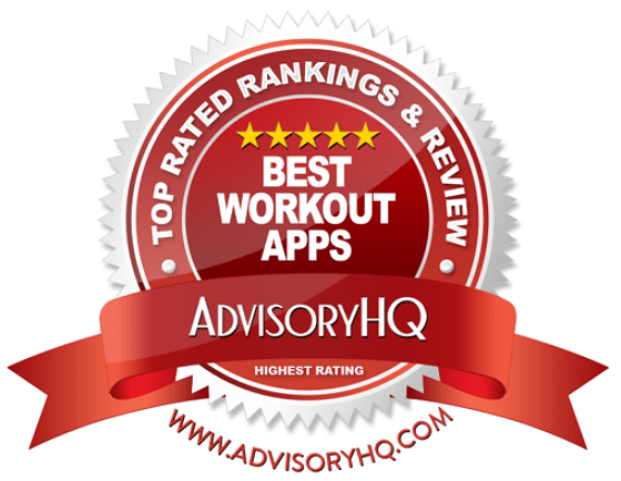 Best Workout Apps Red Award Emblem
