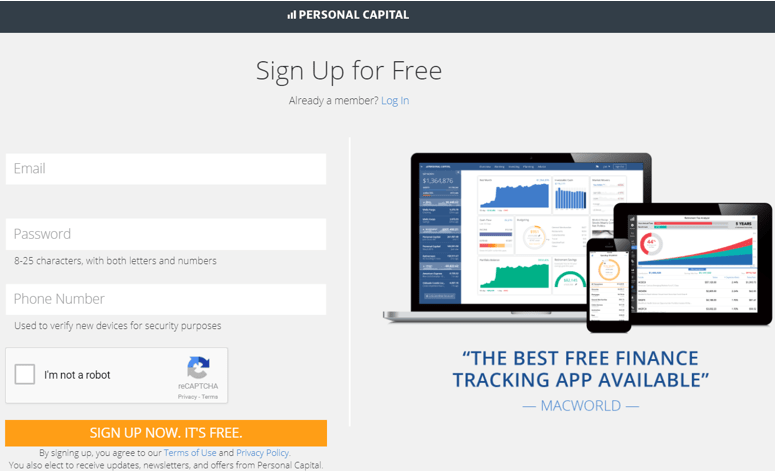 Personal Capital Free Finance Tracking Software