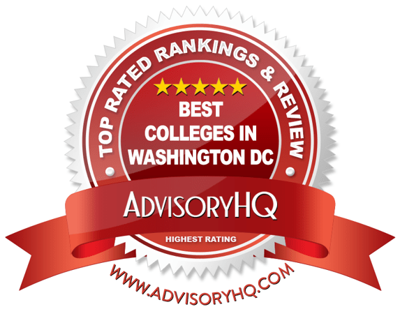Best Colleges in Washington DC Red Award Emblem