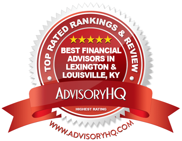 Best Financial Advisors in Lexington & Louisville, KY Red Award Emblem
