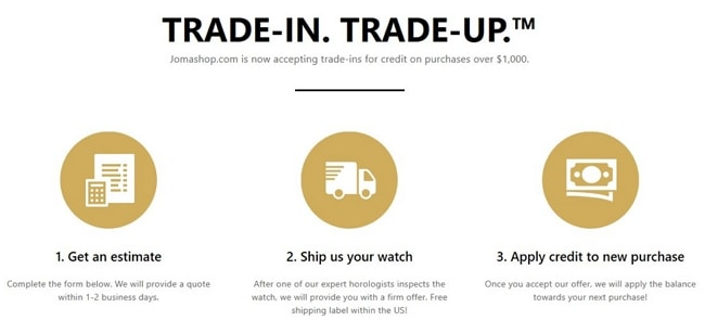 Jomashop Watches Trade-in Policy