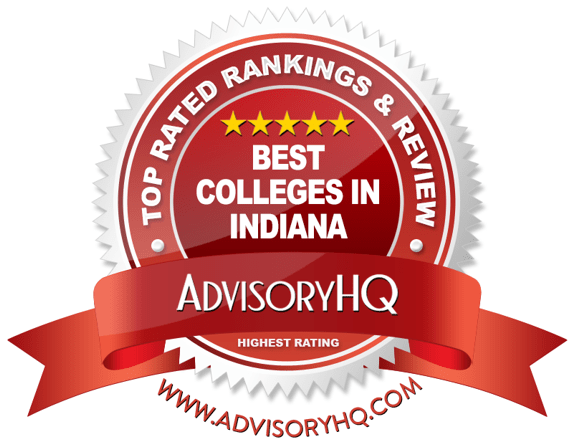 Best Colleges in Indiana Red Award Emblem