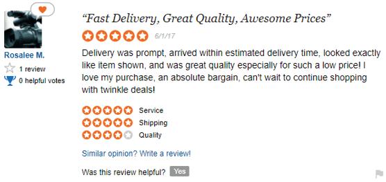 de62de470d0 Common themes among positive TwinkleDeals reviews on SiteJabber include  exceptional customer service