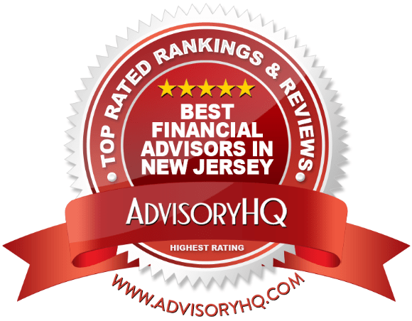 best financial advisor in new jersey red award emblem