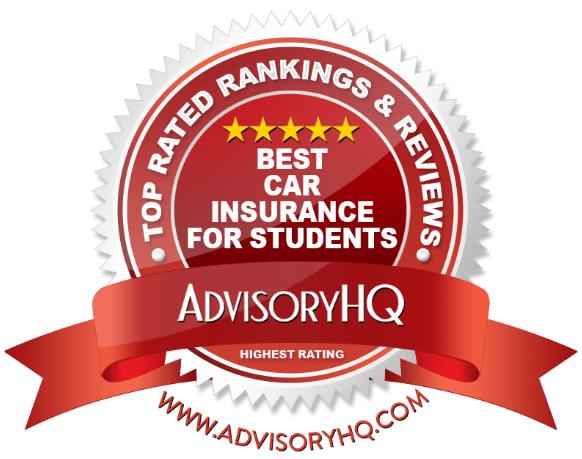 Best Car Insurance For Students Red Award Emblem