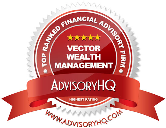Vector Wealth Management AdvisoryHQ Red Award Emblem