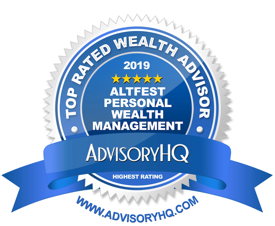 Altfest Personal Wealth Management Blue Award Emblem