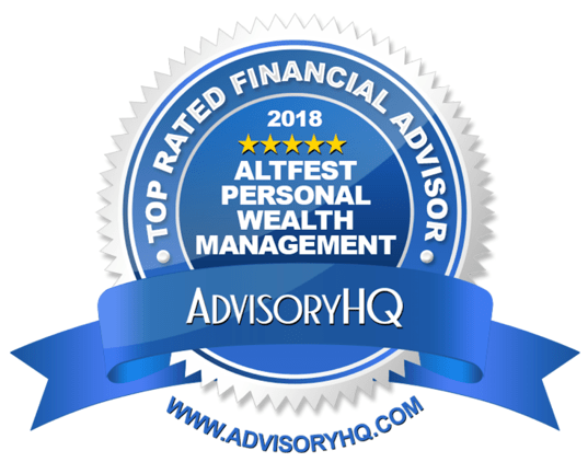 AdvisoryHQ 2018 Award Altfest Personal Wealth Management