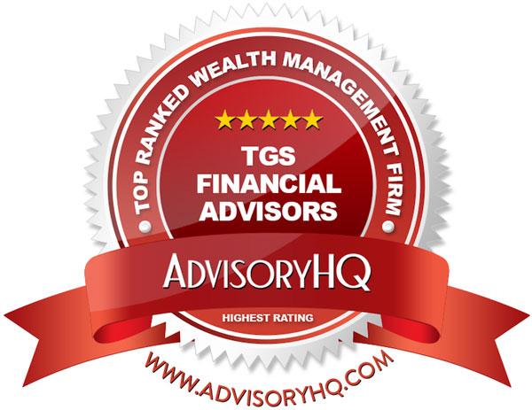 TGS Financial Advisors Red Award Emblem
