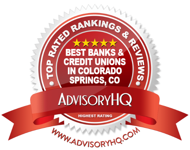 Red Award Emblem for Best Banks & Credit Unions in Colorado Springs, CO