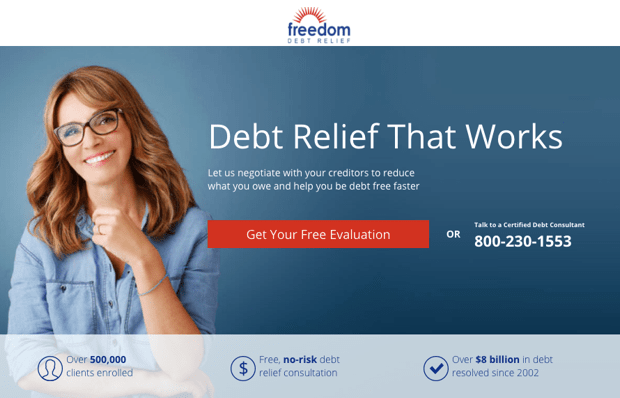 freedom debt relief bbb