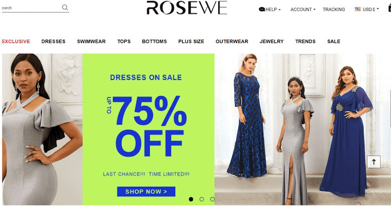 Rosewe.com shopping reviews