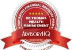 Red Award Emblem for De Thomas Wealth Management Firm