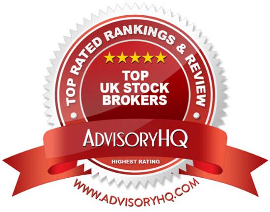 Top UK Stock Brokers Red Award Emblem