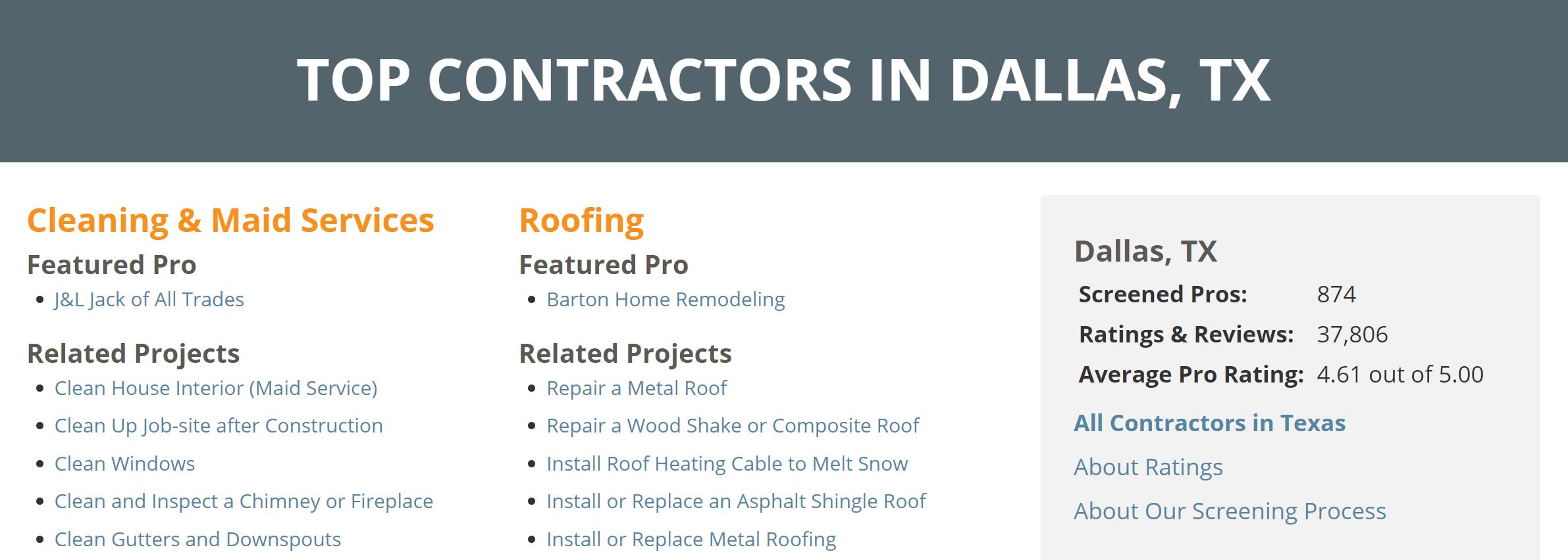 top contractors in dallas tx