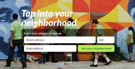 Nextdoor homescreen