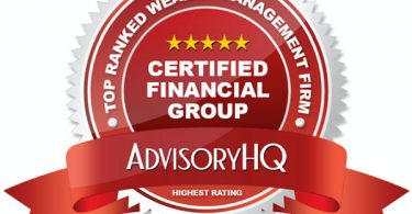 Red Award Emblem for Certified Financial Group